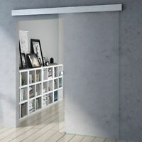 Modern Clear Glass Soft Close Tempered Glass Sliding Door With Round Handle