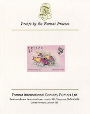 Belize 5106 - 1984 MARINE LIFE 4c  imperf on Format International PROOF  CARD