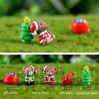 6pcs Weihnachtsbaum Figuren Weihnachten Eichhörnchen Dekor Garten Miniatur H0S7