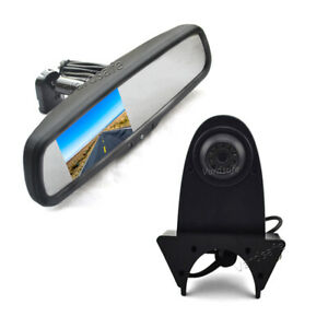 Reverse Backup Camera +4.3' Rear view Mirror Monitor for MB Sprinter/VW Crafter