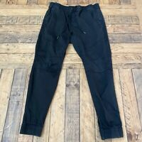 MEN'S Hollister SKINNY BLACK Stretch Jogger pants, Large