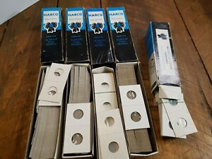 Vintage Harco Blue Ribbon U-Do-It 2X2 Coin Holders - 5 Boxes PARTLY FULL 300+
