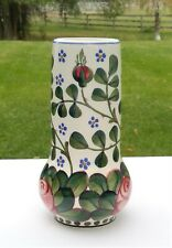 RARE Antique c. 1900's ALUMINIA Faience - Royal Copenhagen - ROSE Vase Denmark