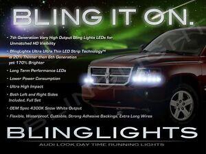LED DRL Head Light Strips Daytime Running Lamps Kit for Dodge Ram Dakota