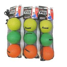 Franklin Sports Youth Lacrosse Balls - Soft Rubber Lacrosse Three 3-Pack 9 Balls