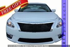 GTG Gloss Black 2PC Billet Grille Grill Kit fits 2013 - 2015 Nissan Altima Sedan