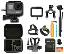 GoPro Hero6 Hero 6 Black Touch-Screen Action Camera With Sports Accessories!