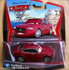 Disney PIXAR Cars 2 CARLO MASERATI # 25 (brother to Bindo) diecast Italian race