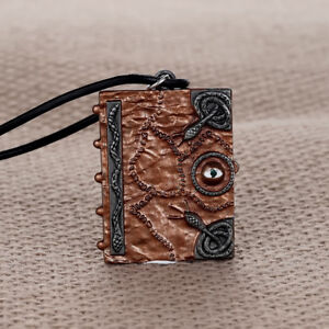 Hocus Pocus Spell Book Pendant Necklace Witches Sanderson Sister Halloween Gift