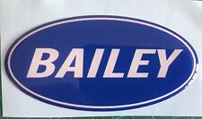 BAILEY CARAVAN MOTORHOME OVAL BADGE PLASTIC DOMED IDEAL TO COVER DENTS SCRATCH