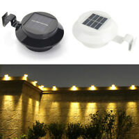 Solar-Powered Automatic LED Mounted Gutter Night Light Roof Outdoor Yard 2 Color