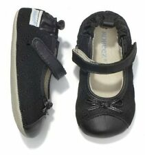 NIP Robeez Shoes Mini Shoez Quilted Black Mary Jane 3-6m 1.5 2
