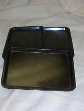 "3 Vintage Silite Small Plastic Money Trays Server Money Tray 6 1/2"" X 4 1/2"""