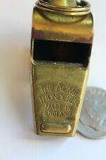 "Vintage Acme Thunderer Whistle Brass, Cork, 11/16 X 1 3/4"" W/O Jump Ring"