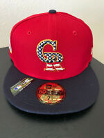 Colorado Rockies 4th Of July Hat New Era Authentic 59FIFTY On-Field 7 1/4