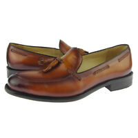 Carrucci Tassel Loafer, Men's Slip-on Dress Leather Shoes, Cognac