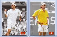 "(2) ROGER FEDERER 2003 ""1ST EVER PRINTED"" NETPRO ELITE TENNIS ROOKIE CARD LOT!"