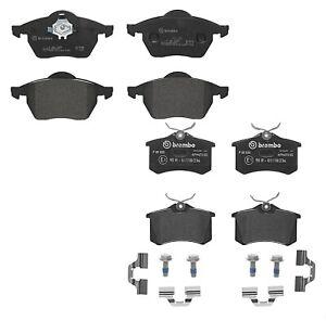 Front and Rear Low-Metallic Disc Brembo Brake Pad Set Kit For Audi TT Quattro