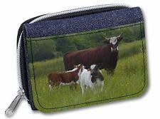 Cow with Calf Girls/Ladies Denim Purse Wallet Christmas Gift Idea, ACO-5JW