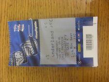 27/08/2014 Ticket: Birmingham City v Sunderland [Football League Cup] (East Padd