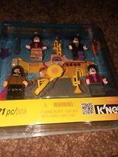 BEATLES Lego / K'NEX minifigures Sgt. Peppers / Yellow Submarine in Original Box