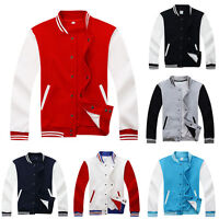 Fashion Men's Varsity Jacket College University Baseball Coat Letterman Outwear