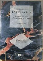 Selected Chapters from GLOBAL SOCIOLOGY Book 5 Contemporary Societies Schneider