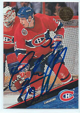 Lyle Odelein signed 1993-94 Leaf hockey card Montreal Canadiens autograph #283