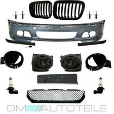 SET BMW E46 Stoßstange 98-01 + Nebel Smoke für M + Grill Schwarz Matt UMBAU KIT