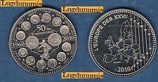Médaille - ESSAI - 50 Ans du noveau Francs 1960 2010 L'Europe des XXVII Euro