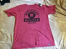 Whiskey Militia Men's Heather Red Short Sleeve T-Shirt 2XL XXL NWT