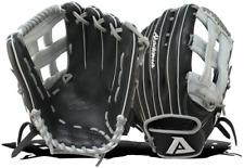 Akadema Prosoft Elite Series Baseball Outfielders Gloves, Black/Silver, Left Han