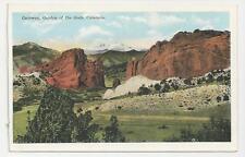 Postcard, Gateway, Garden of the Gods, Colorado - Pikes Peak & Cameron's Cone