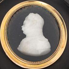 Portrait Général Miniature 1er Empire Napoléon Signé LEPY Sculpteur Nancy XIXè