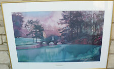 ART PRINT LIMITED EDITION SIGNED KEN CALL AGUSTA 12TH HOLE AT AGUSTA