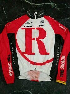 RADIOSHACK TREK LIVESTRONG NIKE UCI CYCLING FULL double ZIP jacket Small