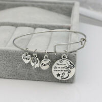 Love You Tree of Life Family Charm Bracelet Bangles Women Mother Gift Friends