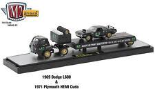 M2 MACHINES 1/64 1959 DODGE L600 & 1971 PLYMOUTH HEMI CUDA 36000-23 AUTO-HAULERS