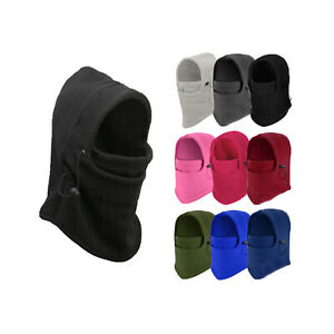 6 in 1 Winter Hat Beanie Balaclava Warm Cap Bandana Neck Warmer Face Mask UNISEX