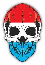 """Skull Flag Netherlands Car Bumper Sticker 4"""" x 5"""""""
