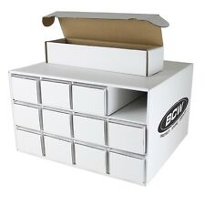 1x BCW Card House with 12x 800 Count Corrugated Cardboard Storage Boxes