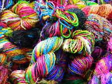 Himalaya Sari Silk Yarn Multicolor 10000 Grams Bulky Weight Handspun Unique