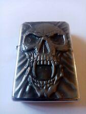 Zippo skull used dated 2004 needs petrol comes with original insert NO ZIPPO BOX