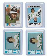 Joe Namath  NY Jets Lot of (4) 1971 1972 1973 Topps EX NMint BV$125.00