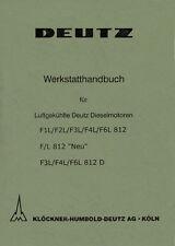 Werkstatthandbuch Deutz Motor F3L812D für D4005