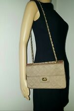 Fabric Two Tone Iridescent Olive Green Bag, Gold Tone Hardware, Shoulder Bag