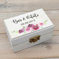Wedding Ring Box Rustic Ring Bearer Box Floral Wreath Wedding Box Ring Holder