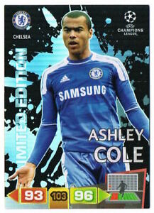 ASHLEY COLE - Limited Edition Panini Adrenalyn XL Champions League 2011-12 Card