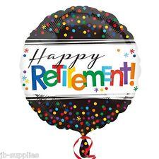 "18"" HAPPY RETIREMENT HELIUM FOIL BALLOON LEAVING BNIP 32816"