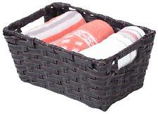 New Vintiquewise Black Plastic Wicker Shelf Basket Organizer